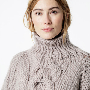 Cropped Cable Sweater Kit
