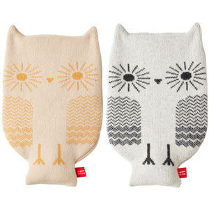 Owl hot water bottle