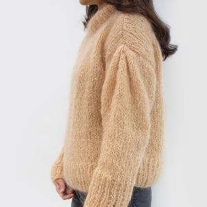 Mohair puff sleeve sweater